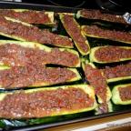 Stuffed Zucchini (Cow Canoes)