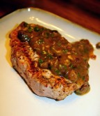 Pork Chops with Roasted Garlic Vinaigrette