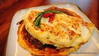 Smoked sun-dried tomato and shallot omelette