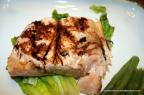Grilled Salmon with Raspberry Vinaigrette Glaze