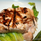 Grilled Salmon with Raspberry Vinaigrette Glaze