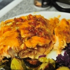 Baked Salmon with Orange Glaze